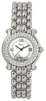 Chopard Happy Sport Series 18kt White Gold Ladies Diamond Watch 276151-20