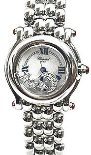 Chopard Happy Sport Series Diamond MoonStars Steel Style Ladies Quartz Watch 278250-21