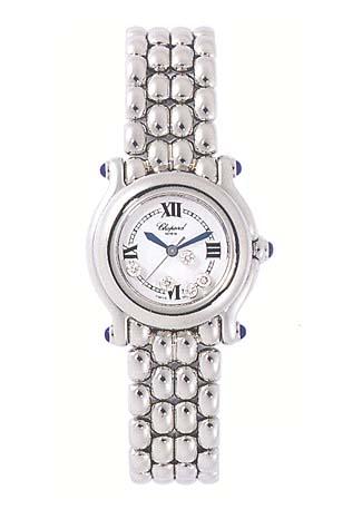 Chopard Happy Sport Series Diamond Steel Ladies Swiss Quartz Wristwatch 278250-23