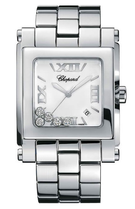 Chopard Happy Sport Series Square Diamond Ladies Swiss Quartz Watch 288467