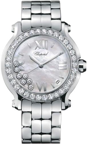 Chopard Happy Sport Series Stainless Steel Ladies Swiss Quartz Watch 278478-20