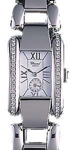 Chopard La Strada Series Diamond Steel White Ladies Swiss Quartz Watch 418415