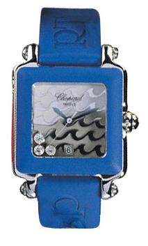 Chopard Happy Sport Series Diamond Steel Ladies Swiss Quartz Wristwatch 278896-403 in Blue