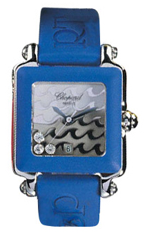 Chopard Happy Sport Series Diamond Steel Unisex Swiss Quartz Wristwatch 278325-23 in Blue