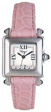 Chopard Happy Sport Series Diamond Steel Ladies Swiss Quartz Wristwatch 278892-23 in Pink