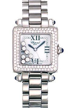Chopard Happy Sport Series Diamond Steel Unisex Swiss Quartz Wristwatch 278358-23