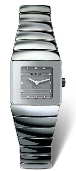 Rado Sintra Series Platinum-tone Ceramic Quartz Ladies Watch-R13334122