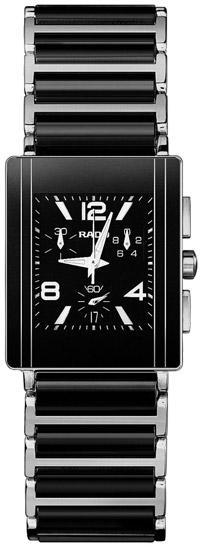 Rado Integral Series Ceramic Steel Quartz Mens Watch R20591152 in Black