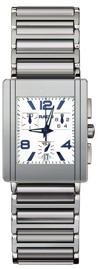 Rado Integral Series Platinum-tone Ceramic Chronograph Quartz Mens Watch R20591102