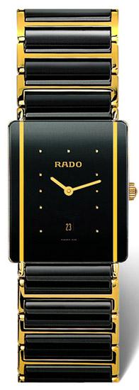Rado Integral Series Ceramic Quartz Mens Watch R20282162 in Black
