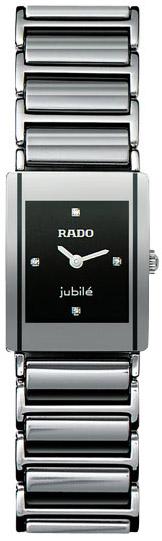 Rado Integral Series Platinum-tone Ceramic Quartz Ladies Watch R20488722