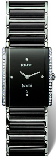 Rado Integral Series Midsize Quartz Unisex Watch R20429712 in Black