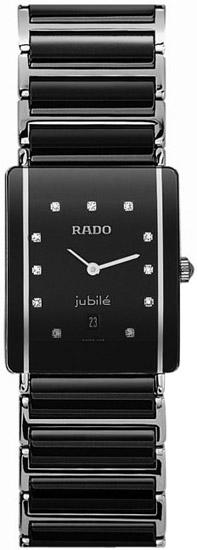 Rado Integral Jubile Series Diamond Black Ceramic Steel Unisex Watch R20486742