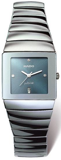 Rado Sintra Series Platinum-tone Ceramic Quartz Unisex Watch-R13332762