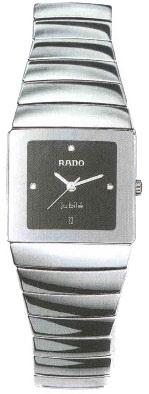 Rado Sintra Series Platinum-tone Ceramic Maxi Mens Watch-R13332732