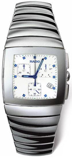 Rado Sintra Series Platinum-Tone Ceramic Chronograph Mens Watch-R13434112