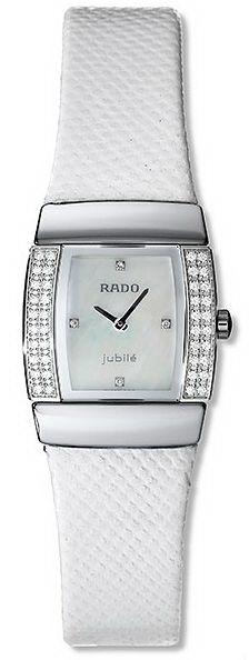 Rado Sintra Series Midsize Diamond White Leather Quartz Ladies Watch R13578906