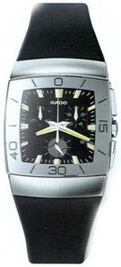 Rado Sintra Series Chronograph Ceramic Quartz Mens Watch R13600139 in Black