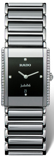 Rado Integral Series Midsize Quartz Unisex Watch R20429732 in Black