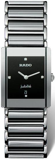 Rado Integral Series Midsize Quartz Unisex Watch R20486722 in Black