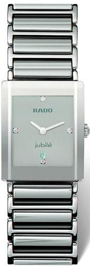 Rado Integral Series Midsize Platinum-tone Ceramic Unisex Watch R20486732 in Silver