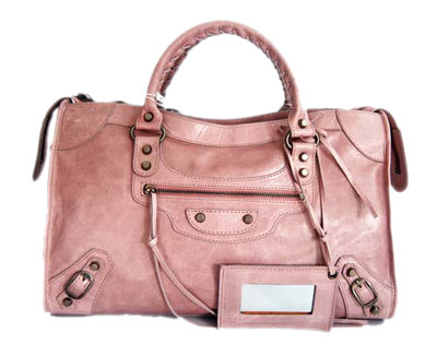 Balenciaga Cowhide Handbag 084332 Light pink