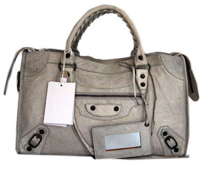 Balenciaga Lampskin Handbag 084332 Light gray