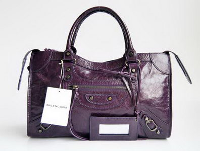 Balenciaga De Lix Motocycle Handle Top bag Dark Purple 084332