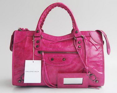 Balenciaga Giant City Silver Studs bag Plum 084332