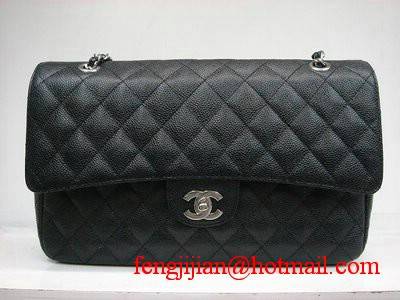 Chanel Marble 2.55 Double Flap Handbag 1113 Black
