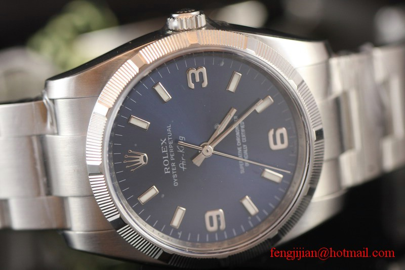 Rolex Steel Air-King Watch 114210-70190