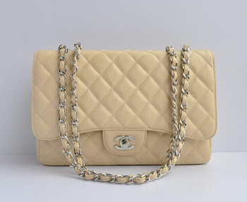 Chanel 2.55 Flap Bag 28600 Cream with silver chain