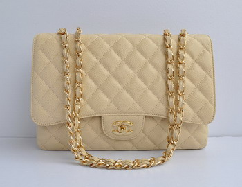 Chanel 2.55 Flap Bag 28600 Cream with gold chain