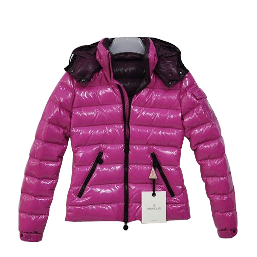 Moncler Women Bady Quilted Hooded Jacket plum
