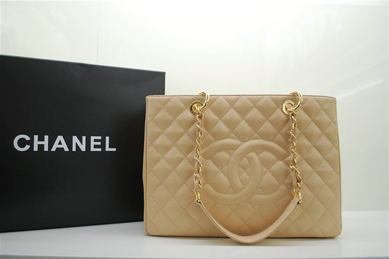 Chanel 2011 GST Caviar Leather Handbag 36092 Cream