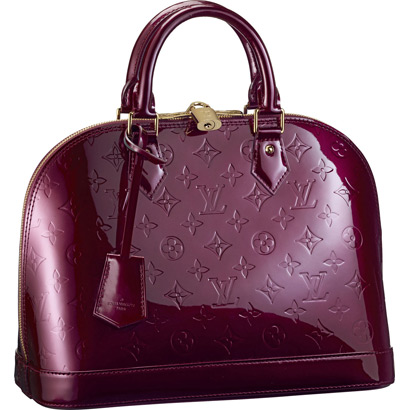 Hot Style Louis Vuitton Monogram Vernis Alma PM M91691 Rouge Fauviste