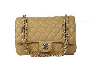 Chanel 2.55 Series Lambskin Flap Bag A1112 Apricot Gold