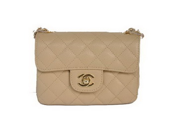 Chanel 2.55 mini Flap Bag 1115 Beige Sheepskin Golden Hardware