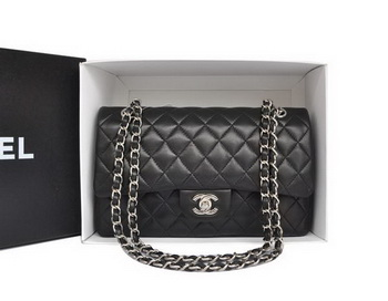 Chanel A1112 2.55 Series Flap Bag Original Leather Black
