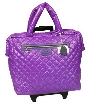 Chanel CoCo Cocoon Quilted Nylon Trolley A47205 Hyacinthine