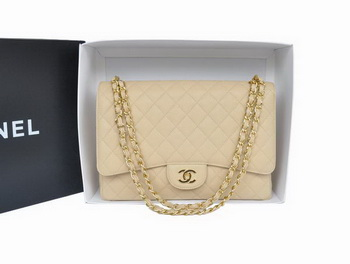 Hot Style Chanel Original Apricot Caviar Leather Jumbo Flap Bag A47600 Gold
