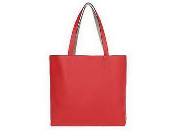 Hermes Shopping Bag 36CM Totes Clemence Leather Light Red