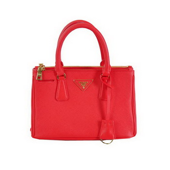 Fashion Prada Saffiano Calfskin Leather Tote Bag BN2316L Red