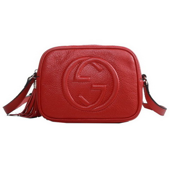 Gucci 308364 A7M0G 6523 Soho Red Leather Disco Bag