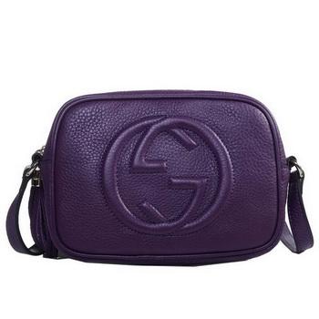 Gucci 308364 Soho Purple Leather Disco Bag