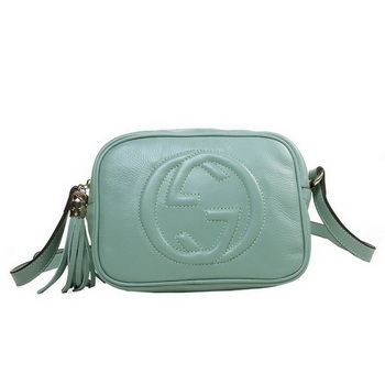 Gucci 308364 Soho Light Blue Leather Disco Bag