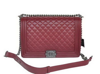 Boy Chanel Flap Shoulder Bag A67087 Sheepskin Bordeaux