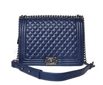 Boy Chanel Flap Shoulder Bag A67087 Sheepskin RoyalBlue