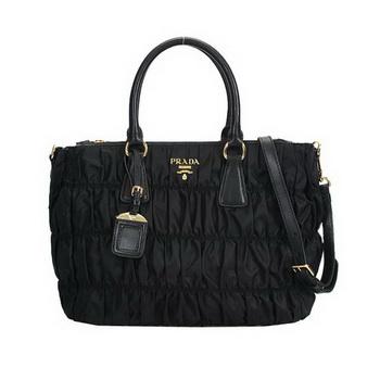 Prada Gaufre Fabric Top Handle Bag BN1788 Black