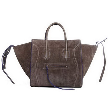Celine Luggage Phantom Shopper Bags Nubuck Leather 16995 3341 Khaki